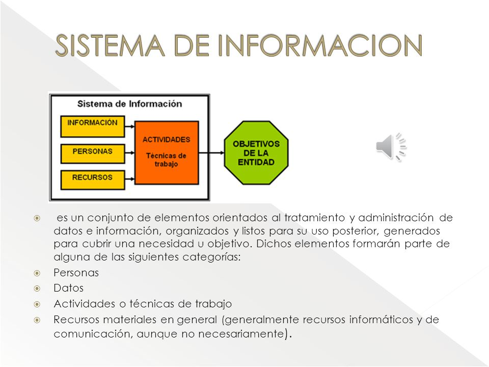 TECNOLOGIA DE INFORMACION Incluyen software,hardware,redes,base de datos software hardware redes Base de datos