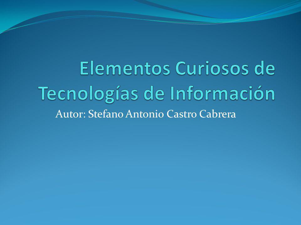 Autor: Stefano Antonio Castro Cabrera
