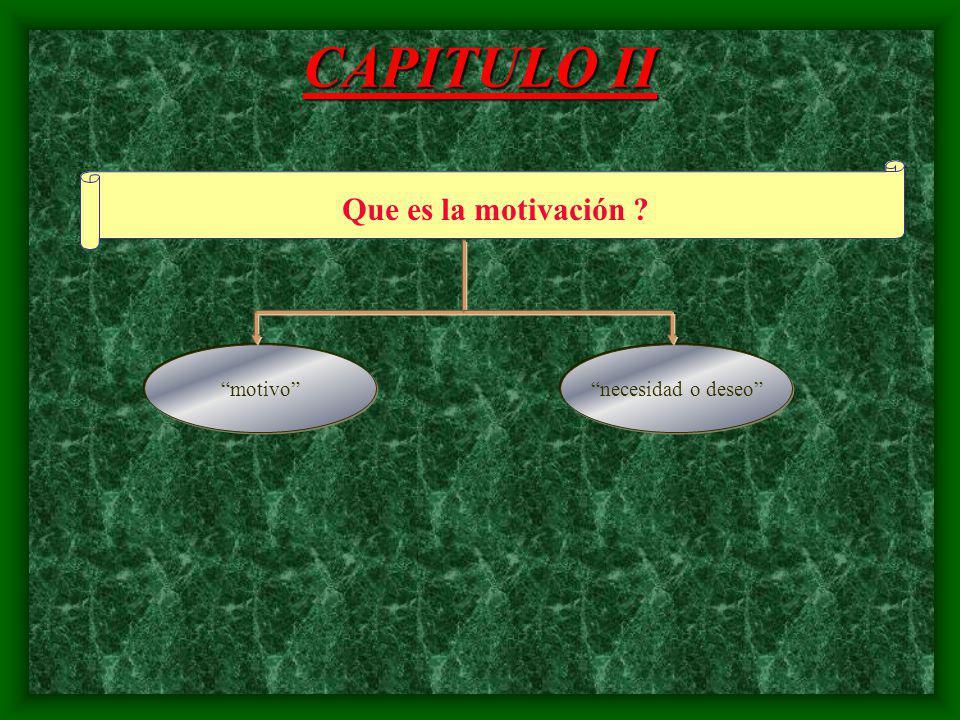 CAPITULO II Historia LA MOTIVACION Como ?Que ?Para que ?