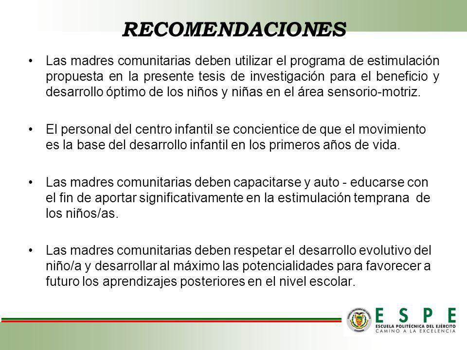 PROPUESTA PROGRAMA DE ESTIMULACIÓN TEMPRANA DIRIGIDO A NIÑOS/AS DE 0 A 2 AÑOS DE EDAD PARA POTENCIALIZAR EL ÁREA SENSORIO-MOTRIZ.