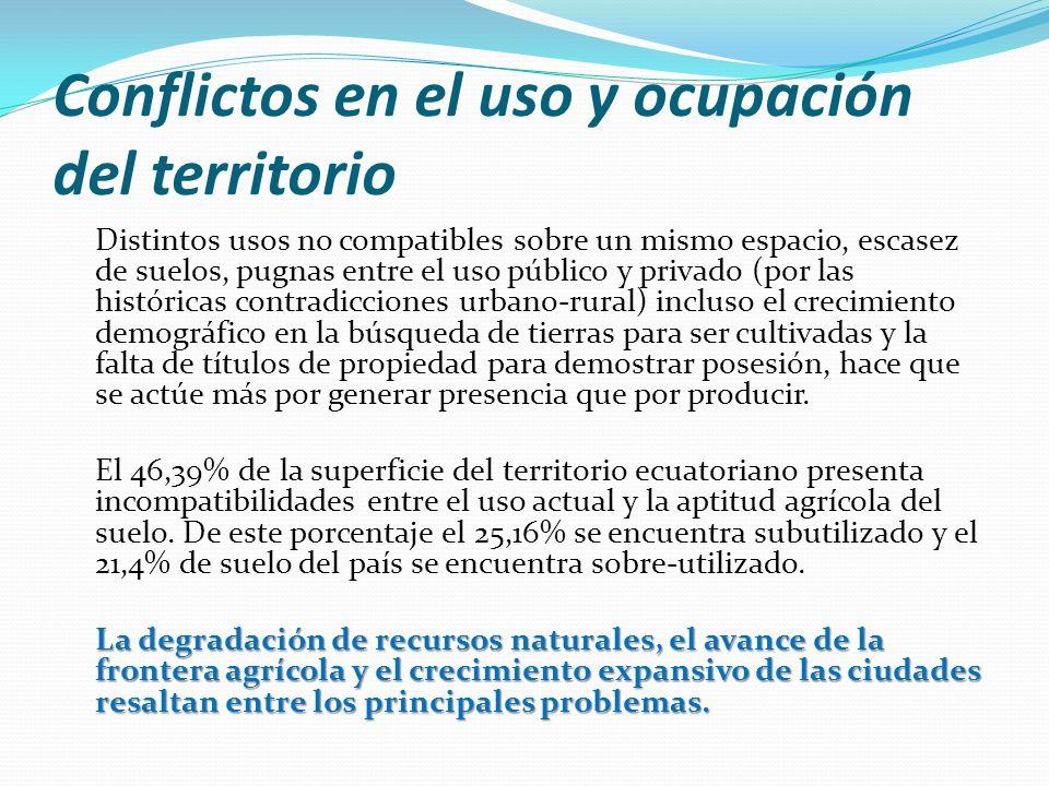 Gran parte de las actividades productivas orientadas al mercado externo son fundamentalmente extensivas en el uso de tierra y altamente demandantes en la utilización de agua y energía.