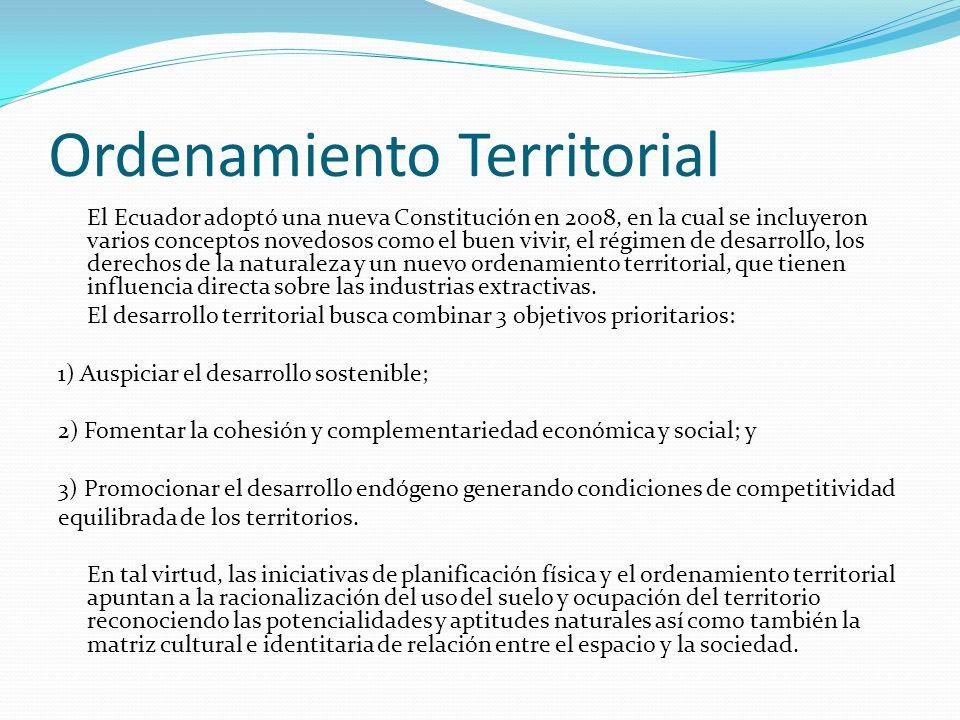 Definición Conjunto de políticas democráticas y participativas de los gobiernos autónomos descentralizados que permiten su apropiado desarrollo territorial, así como una concepción de la planificación con autonomía para la gestión territorial, que parte de lo local a lo regional en la interacción de planes que posibiliten la construcción de un proyecto nacional, basado en el reconocimiento y la valoración de la diversidad cultural y la proyección espacial de las políticas sociales, económicas y ambientales, proponiendo un nivel adecuado de bienestar a la población en donde prime la preservación del ambiente para las futuras generaciones