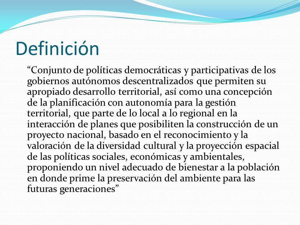Los principales problemas territoriales identificados incluyen: Desequilibrios y aislamientos regionales: Dado por la indefinición del crecimiento físico de las ciudades y los asentamientos rurales.