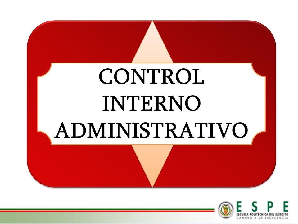 CONTROL INTERNO ADMINISTRATIVO