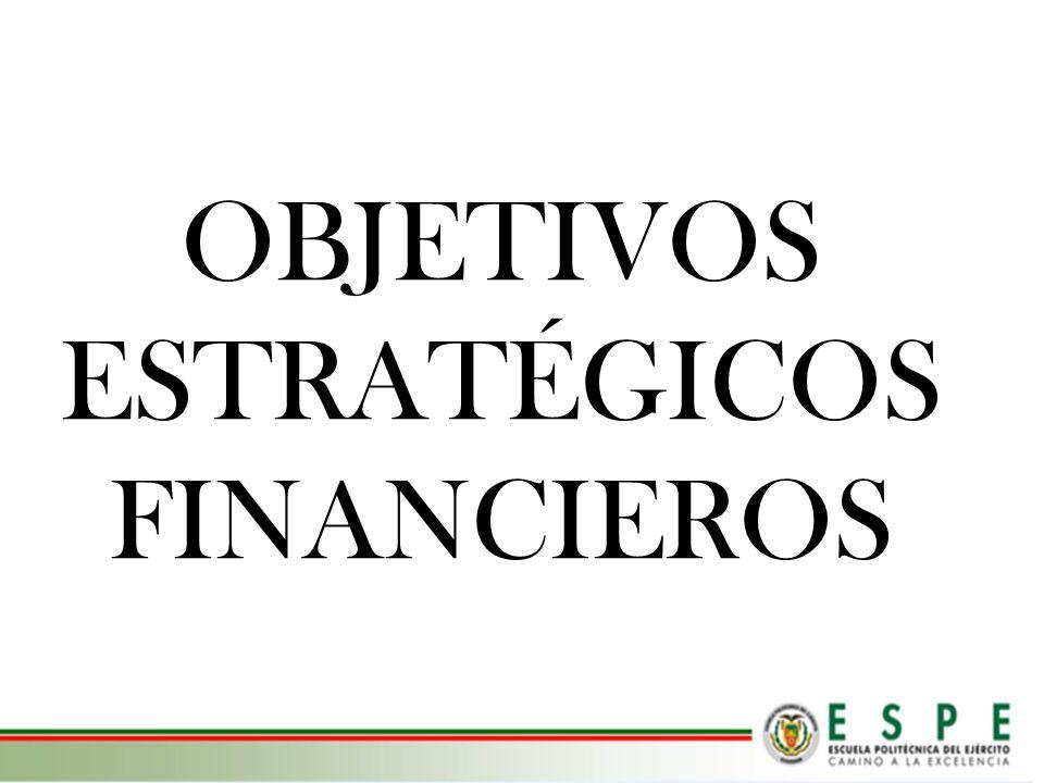 OBJETIVOS ESTRATÉGICOS FINANCIEROS