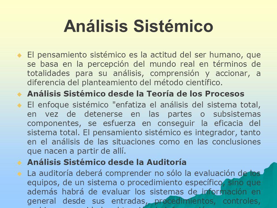 Análisis Sistémico El pensamiento sistémico es la actitud del ser humano, que se basa en la percepción del mundo real en términos de totalidades para su análisis, comprensión y accionar, a diferencia del planteamiento del método científico.
