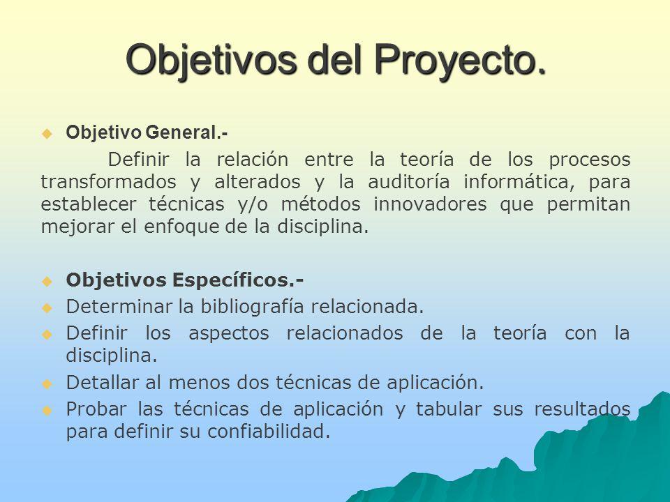 Objetivos del Proyecto.Objetivos del Proyecto.