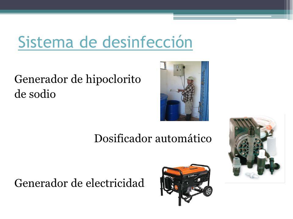 Sistema de desinfección Generador de hipoclorito de sodio Dosificador automático Generador de electricidad