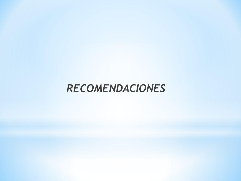 RECOMENDACIONES