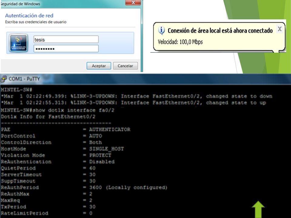 Control de acceso y autenticación mutua Flexibilidad Escalabilidad Nivel de Seguridad alto con cifrado Autenticación de usuarios y de equipos ANÁLISIS DE RESULTADOS