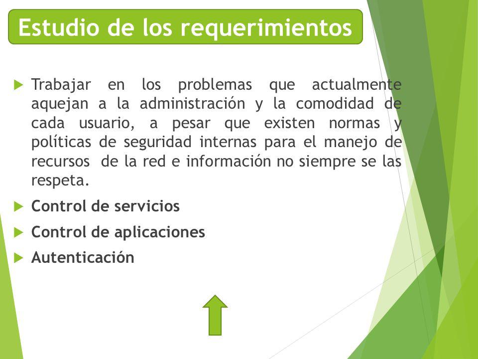 Trabajar en los problemas que actualmente aquejan a la administración y la comodidad de cada usuario, a pesar que existen normas y políticas de seguri