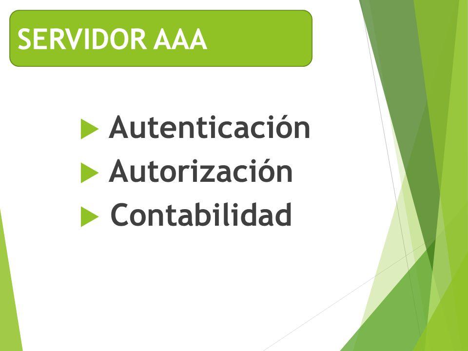 Autenticación Autorización Contabilidad SERVIDOR AAA