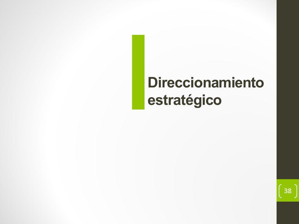 38 Direccionamiento estratégico