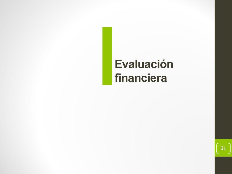 61 Evaluación financiera