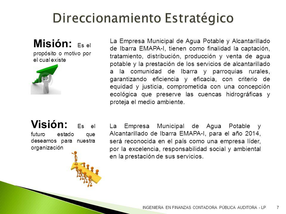 La Empresa Municipal de Agua Potable y Alcantarillado de Ibarra EMAPA-I, para el año 2014, será reconocida en el país como una empresa líder, por la e