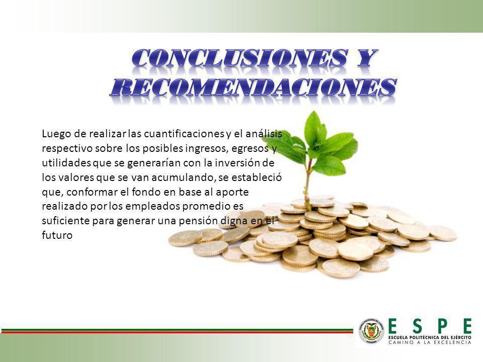 Concluisión 2 Luego de realizar las cuantificaciones y el análisis respectivo sobre los posibles ingresos, egresos y utilidades que se generarían con