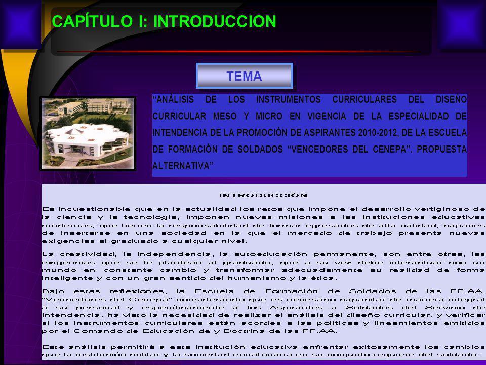 2 CAPÍTULO I: INTRODUCCION TEMA