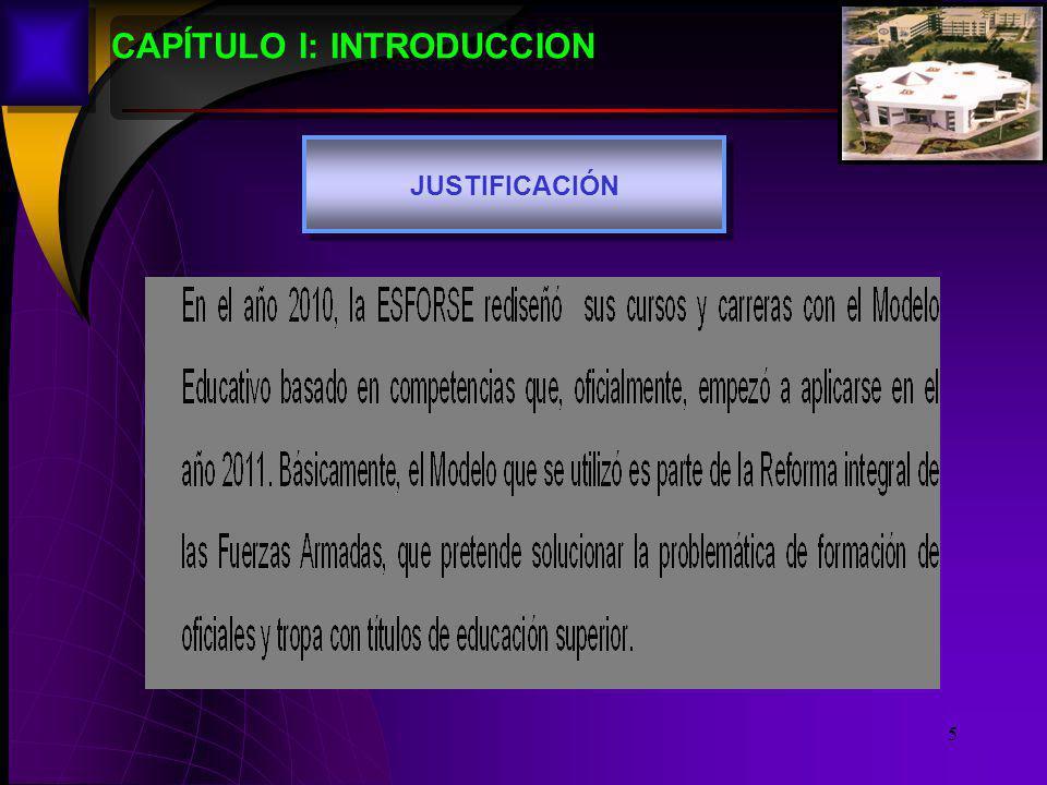 5 CAPÍTULO I: INTRODUCCION JUSTIFICACIÓN