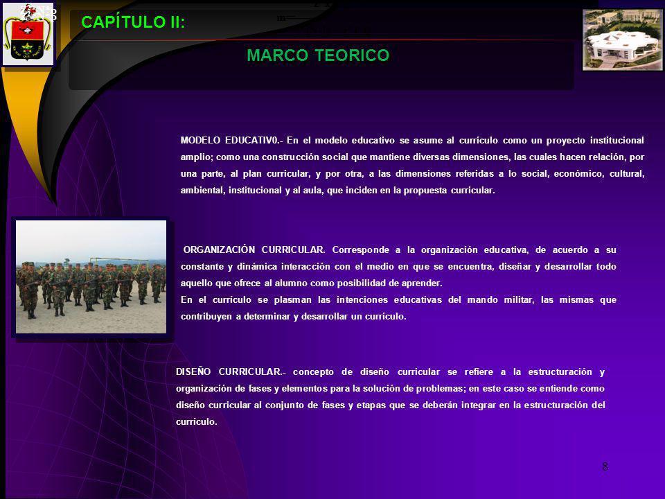 CAPÍTULO II: NIVELES DE CONCRECION CURRICULAR