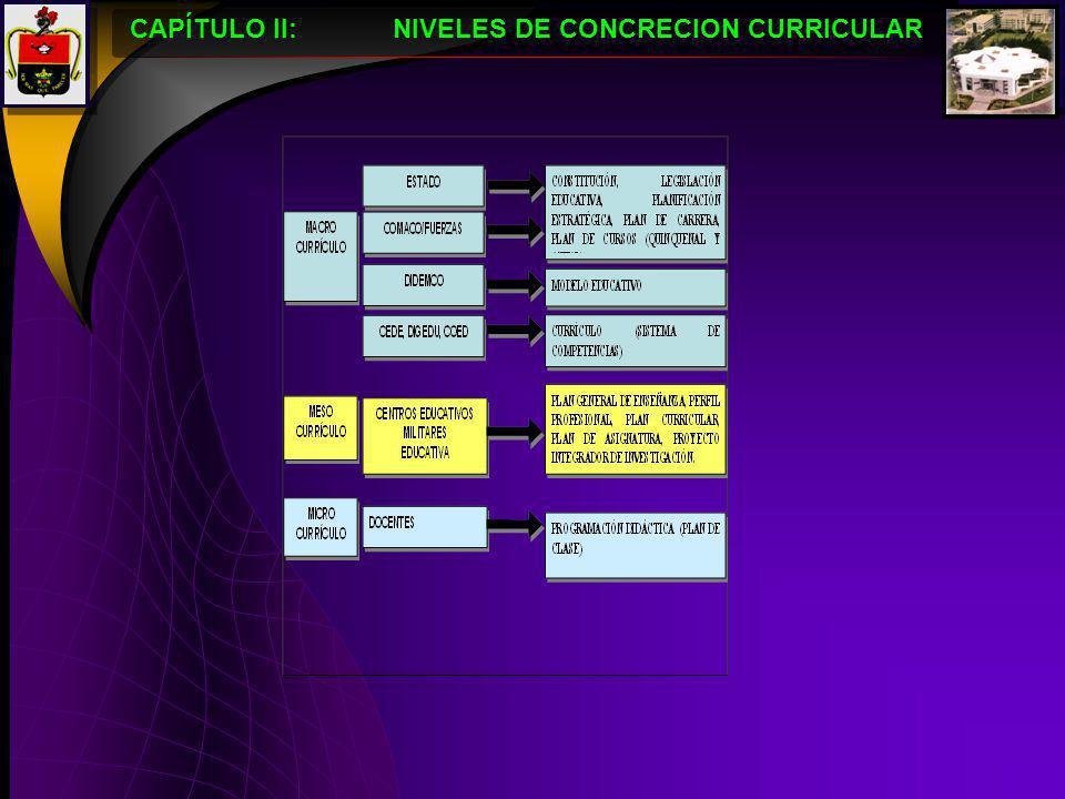 10 CAPÍTULO II: DISEÑO CURRICULAR ESPECIALIDAD DE INTENDENCIA z ² x P.Q.