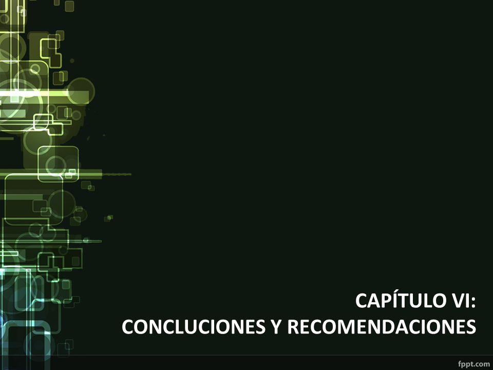 CAPÍTULO VI: CONCLUCIONES Y RECOMENDACIONES