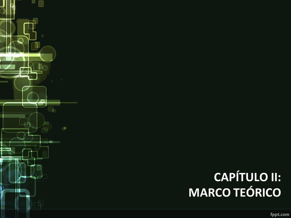 CAPÍTULO II: MARCO TEÓRICO