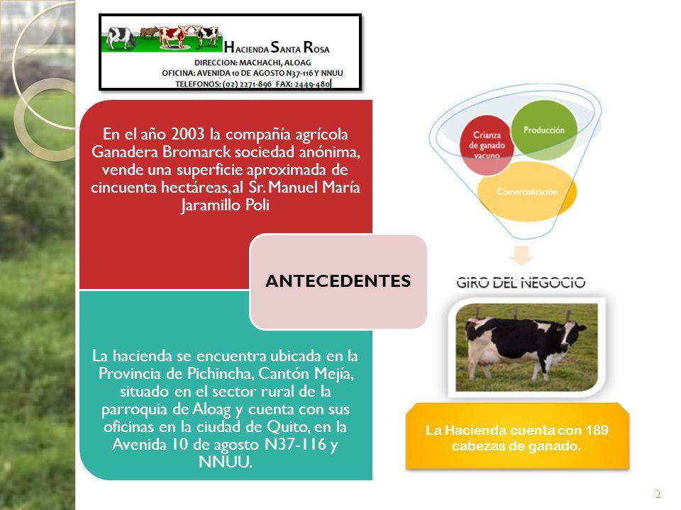 En el año 2003 la compañía agrícola Ganadera Bromarck sociedad anónima, vende una superficie aproximada de cincuenta hectáreas, al Sr. Manuel María Ja