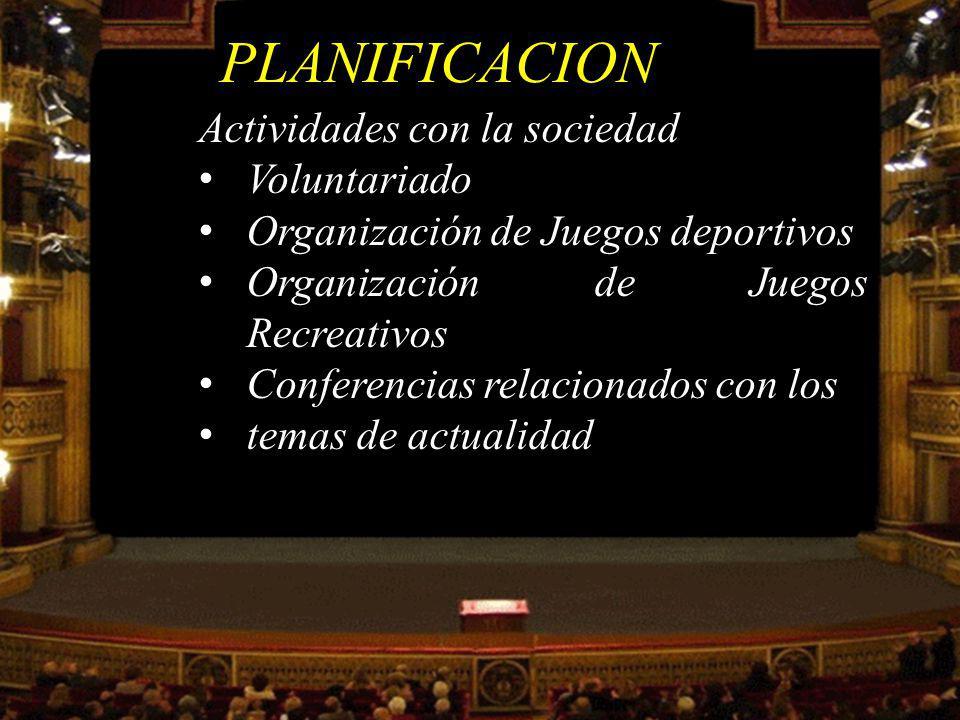 Actividades Artísticas y de conocimiento Club de pintura Club de lectura Club de teatro PLANIFICACION
