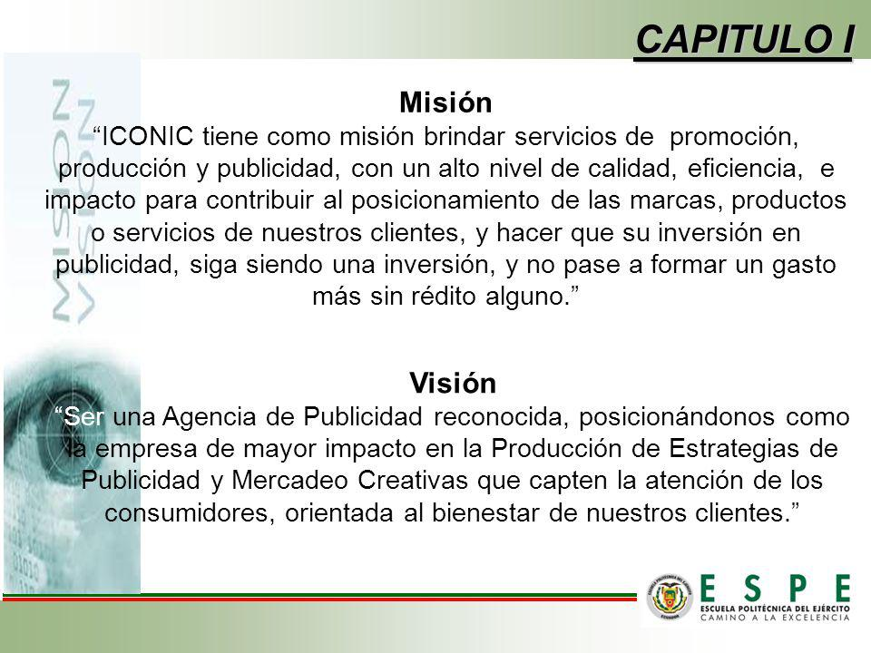 Misión ICONIC tiene como misión brindar servicios de promoción, producción y publicidad, con un alto nivel de calidad, eficiencia, e impacto para cont
