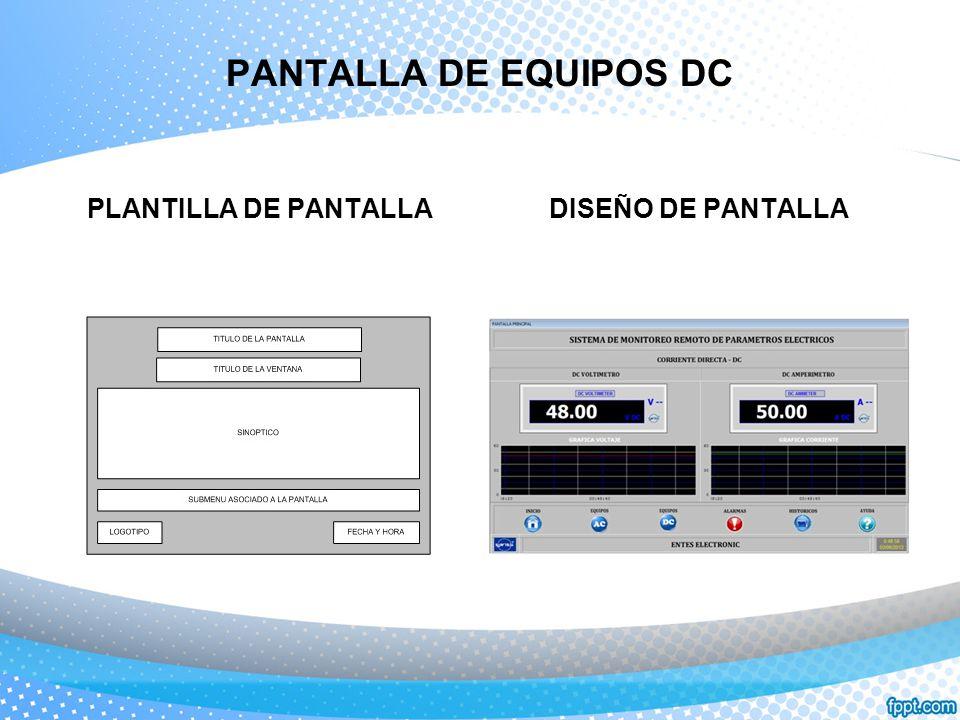 PANTALLA DE EQUIPOS DC PLANTILLA DE PANTALLADISEÑO DE PANTALLA