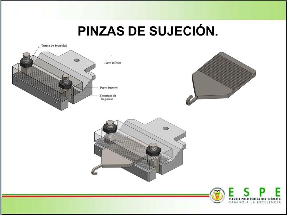 PINZAS DE SUJECIÓN.