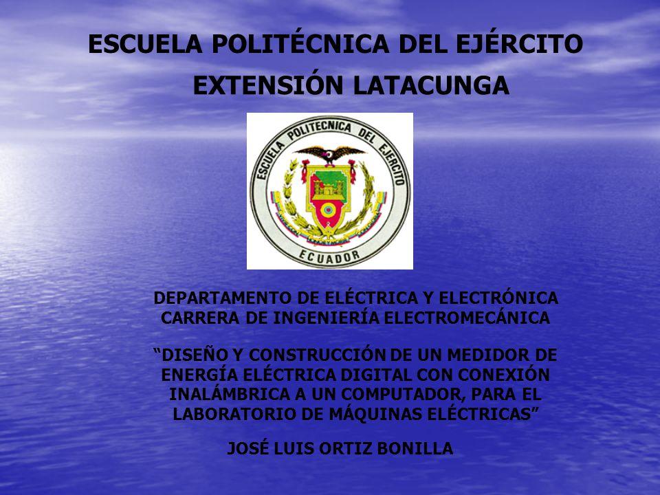 ESCUELA POLITÉCNICA DEL EJÉRCITO EXTENSIÓN LATACUNGA DEPARTAMENTO DE ELÉCTRICA Y ELECTRÓNICA CARRERA DE INGENIERÍA ELECTROMECÁNICA DISEÑO Y CONSTRUCCI