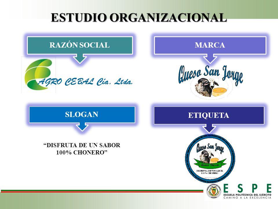ESTUDIO ORGANIZACIONAL RAZÓN SOCIAL MARCA DISFRUTA DE UN SABOR 100% CHONERO