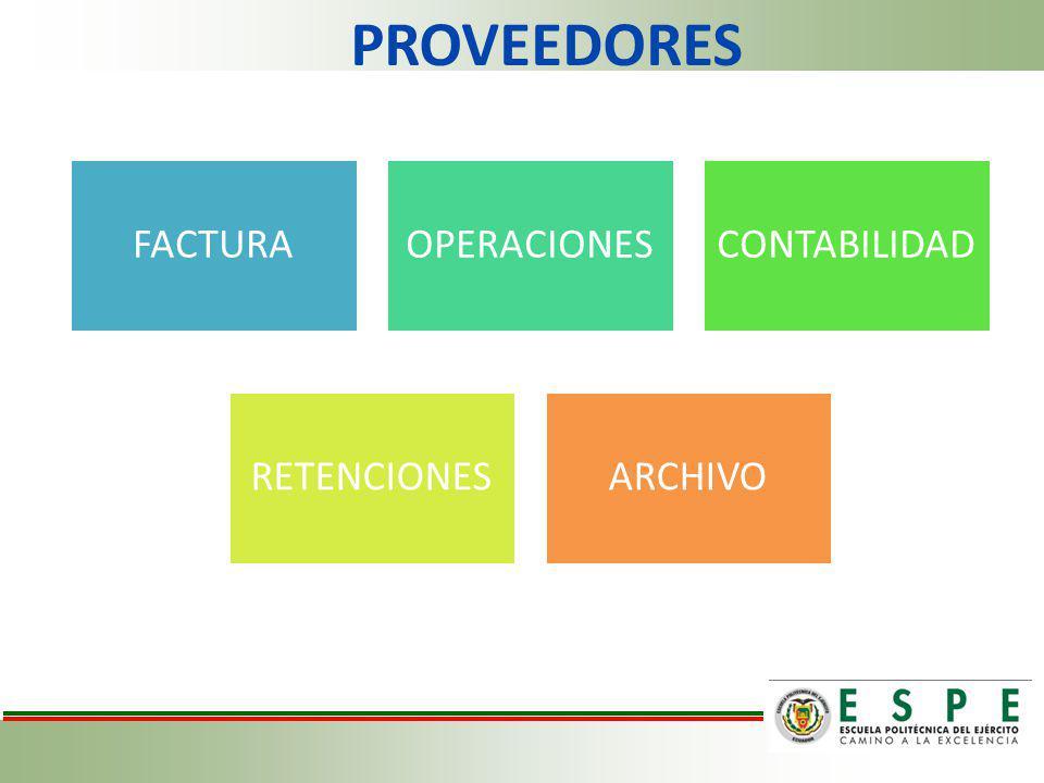 PROVEEDORES FACTURAOPERACIONESCONTABILIDAD RETENCIONESARCHIVO