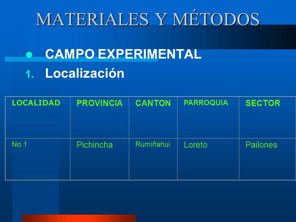 7. Algunos resultados de investigaciones en el Ecuador Camacho (1961), Puéllaro, 7.08 TM/ha. Naranjo (1975), Salinas de Ibarra, 8.08 TM/ha. Sánchez y