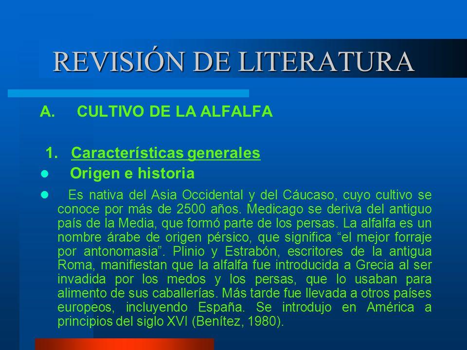 REVISIÓN DE LITERATURA A.CULTIVO DE LA ALFALFA 1.