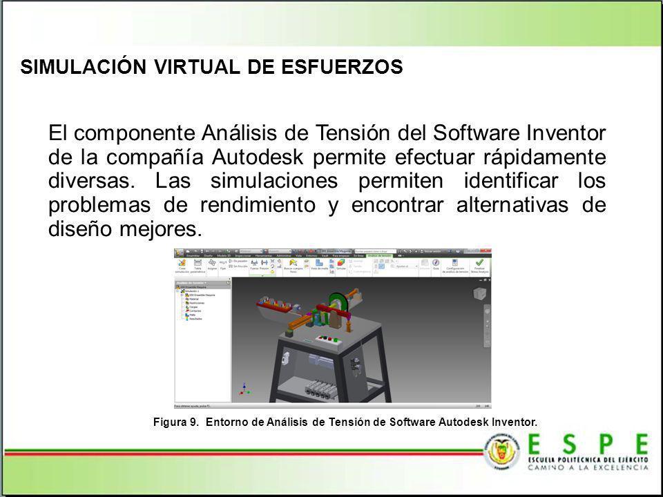 El componente Análisis de Tensión del Software Inventor de la compañía Autodesk permite efectuar rápidamente diversas. Las simulaciones permiten ident