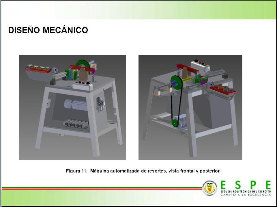 DISEÑO MECÁNICO Figura 11. Máquina automatizada de resortes, vista frontal y posterior.