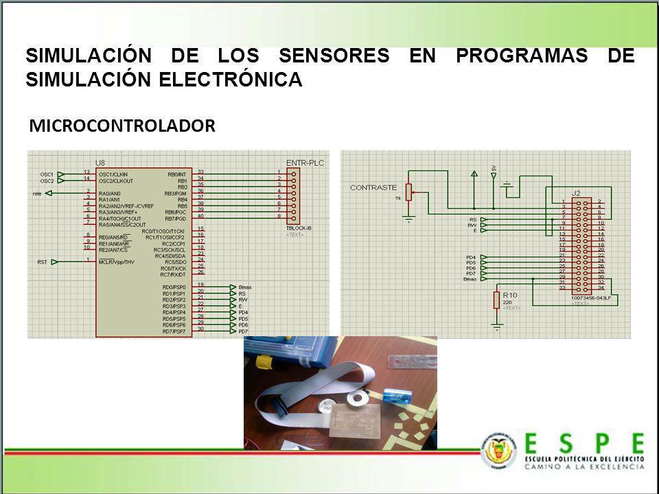 MICROCONTROLADOR SIMULACIÓN DE LOS SENSORES EN PROGRAMAS DE SIMULACIÓN ELECTRÓNICA