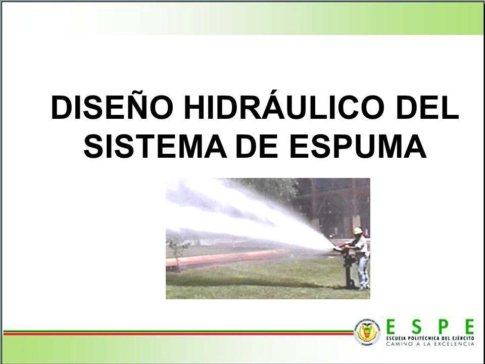 DISEÑO HIDRÁULICO DEL SISTEMA DE ESPUMA