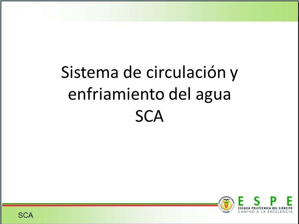 Sistema de circulación y enfriamiento del agua SCA SCA