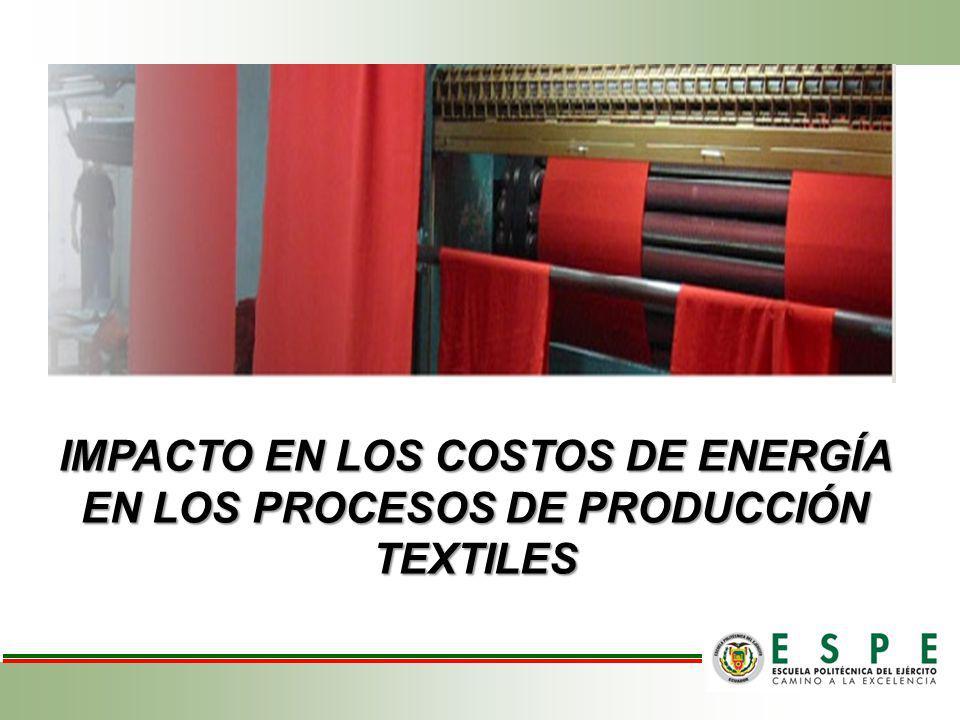 IMPACTO EN LOS COSTOS DE ENERGÍA EN LOS PROCESOS DE PRODUCCIÓN TEXTILES