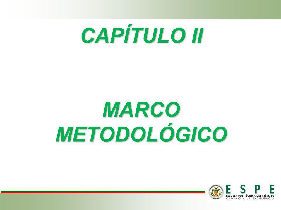 CAPÍTULO II MARCO METODOLÓGICO