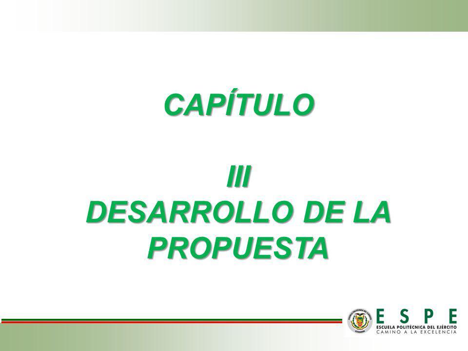 CAPÍTULO III DESARROLLO DE LA PROPUESTA