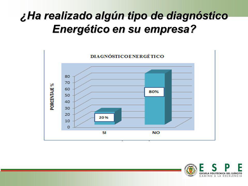 ¿Ha realizado algún tipo de diagnóstico Energético en su empresa? ¿Ha realizado algún tipo de diagnóstico Energético en su empresa?