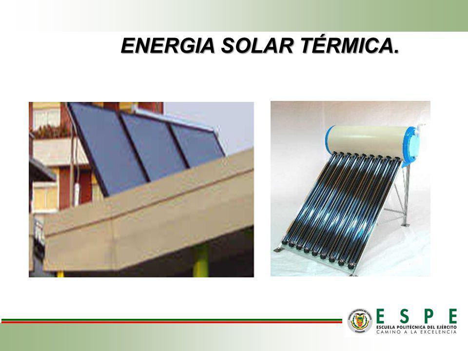 ENERGIA SOLAR TÉRMICA.