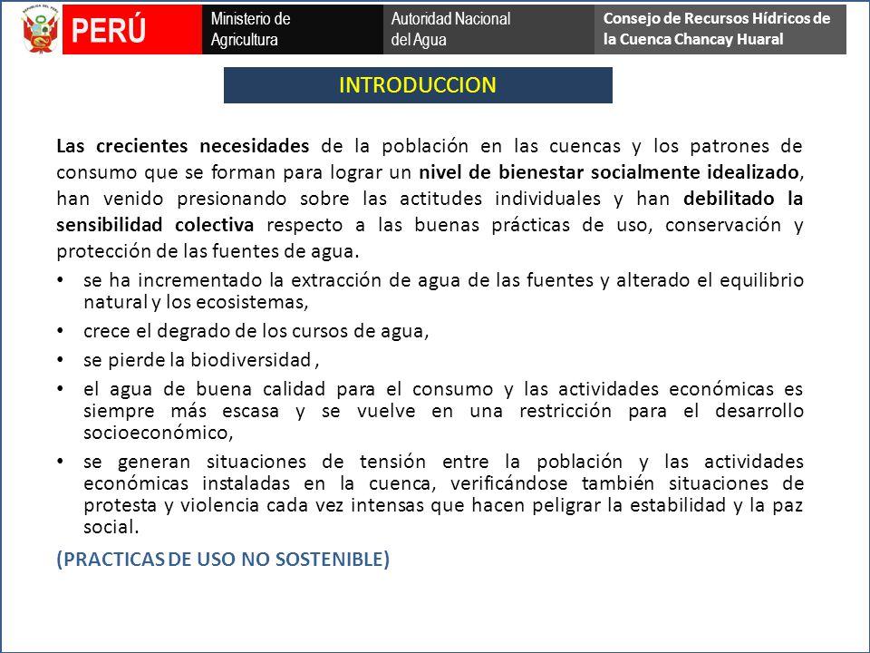 Ministerio de Agricultura Autoridad Nacional del Agua PERÚ Consejo de Recursos Hídricos de la Cuenca Chancay Huaral MUCHAS GRACIAS POR SU ATENCIÓN