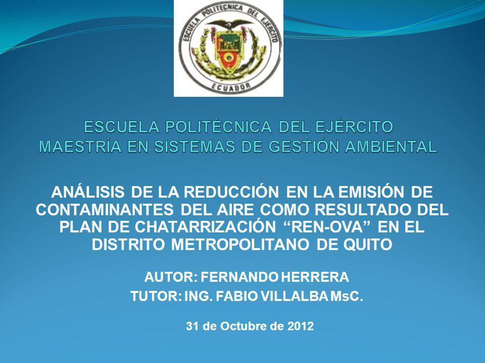 Reducción de la contaminación modalidad transporte urbano en el DMQ