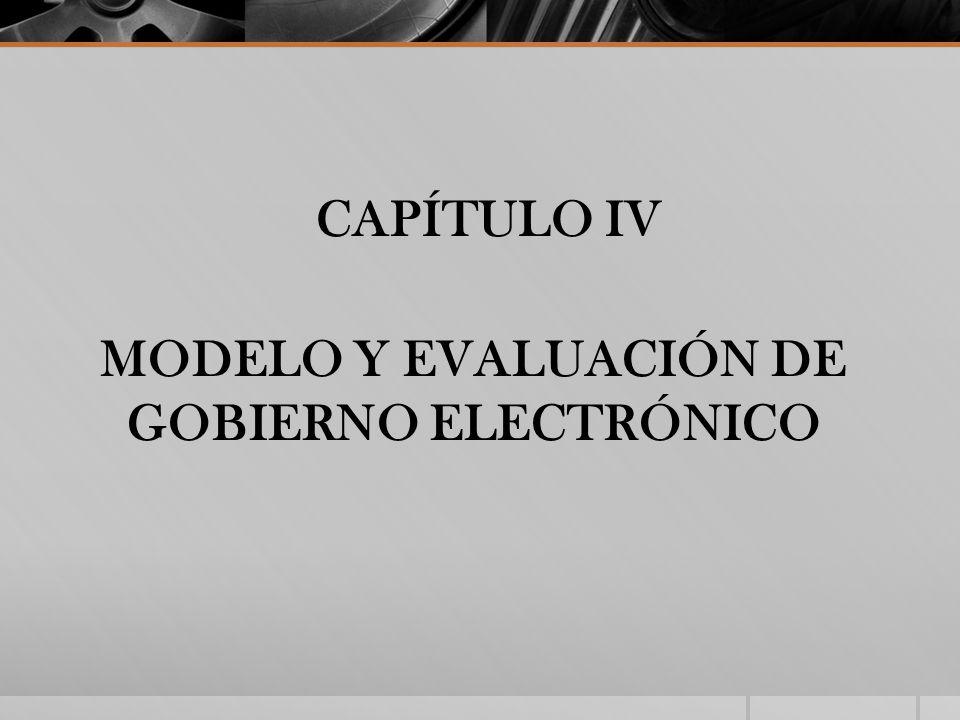 CAPÍTULO IV MODELO Y EVALUACIÓN DE GOBIERNO ELECTRÓNICO