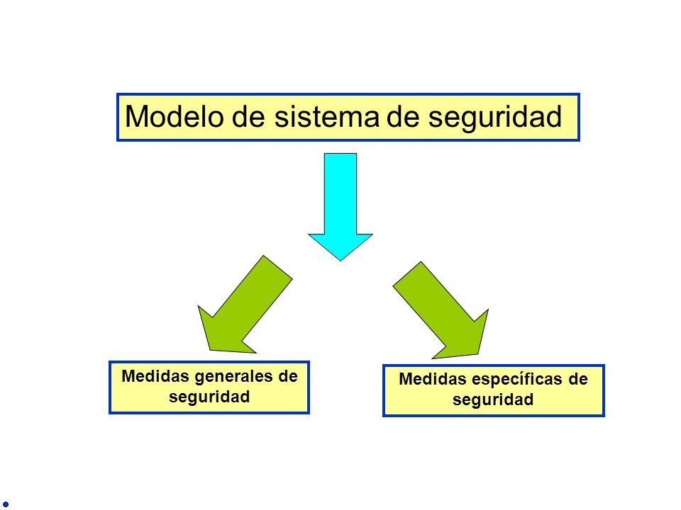 Modelo de sistema de seguridad Medidas generales de seguridad Medidas específicas de seguridad